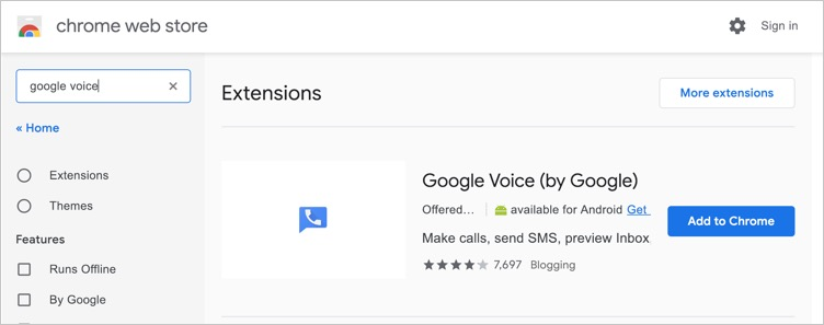 Google Voice Official Extension by Google