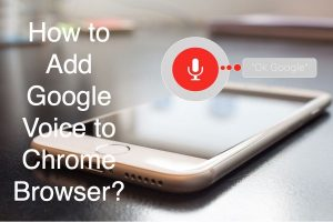 How to Add Google Voice to Chrome Browser?