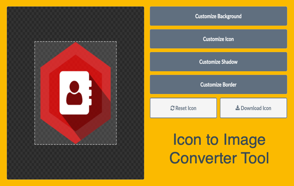 Font Icon to Image Converter Tool