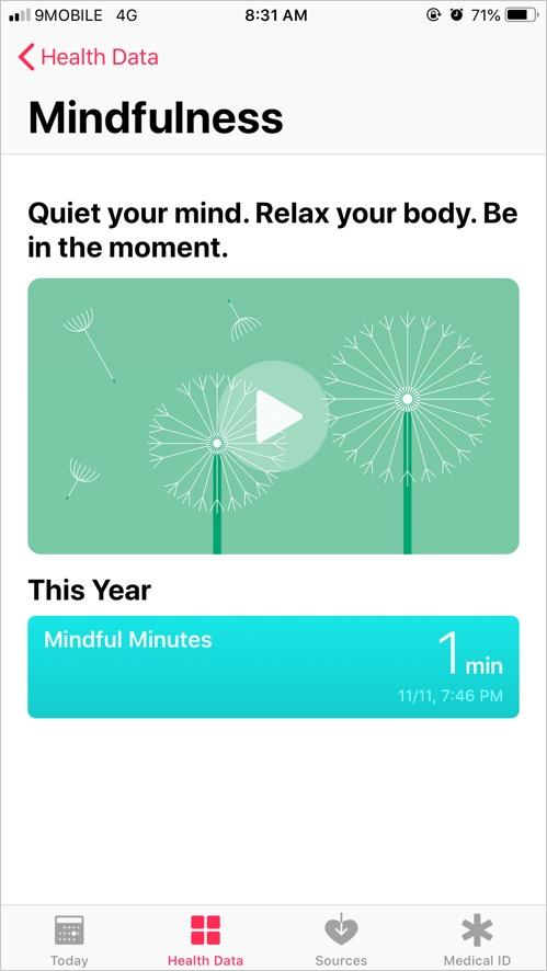 Mindfulness Data