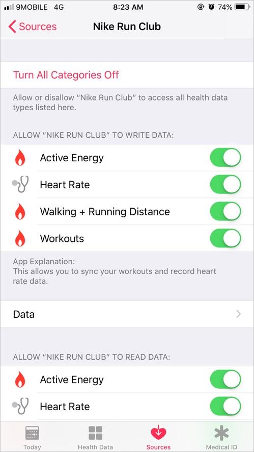 Nike Run Club App Data