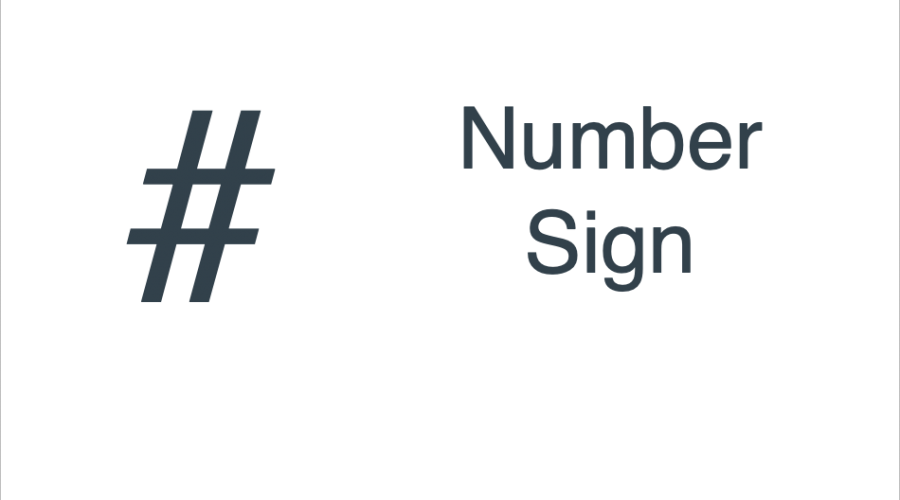 Keyboard Shortcuts for Number Sign