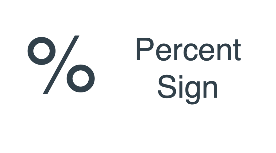 Keyboard Shortcuts for Percent Sign
