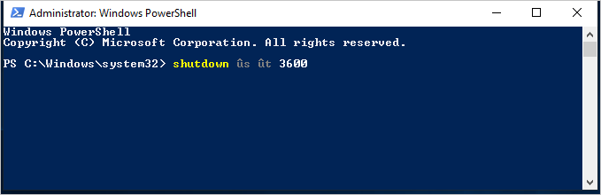 PowerShell Shutdown