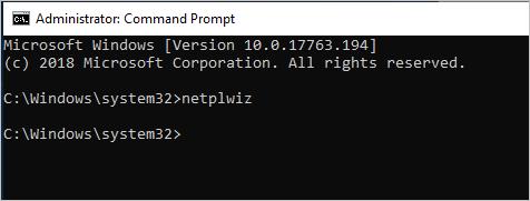 Running Netplwiz Command