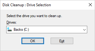 Select Disk for Clean Up