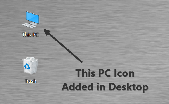 This PC Icon Added in Desktop