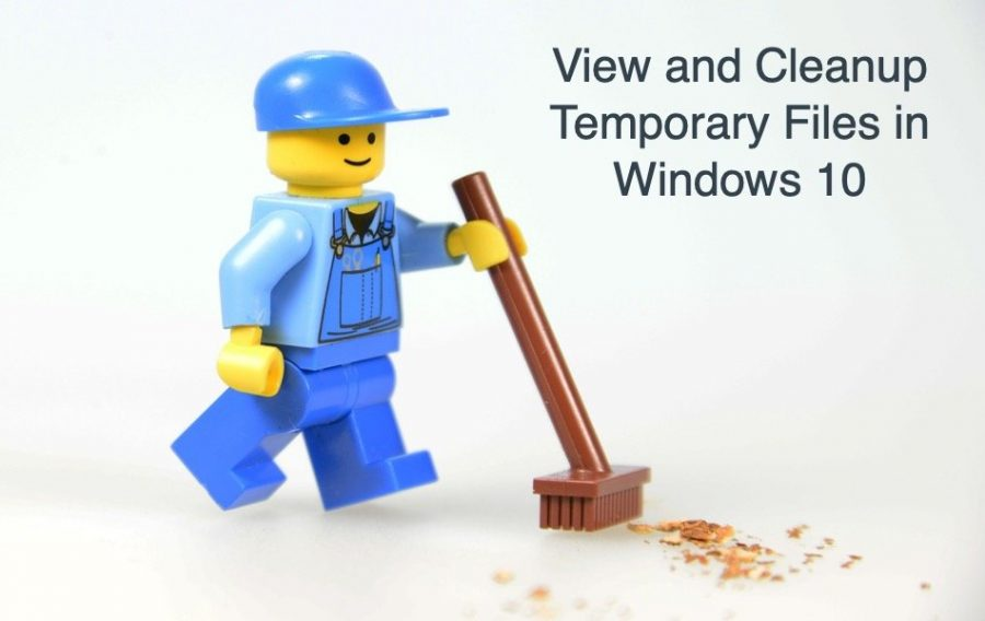 View and Cleanup Temporary Files in Windows 10