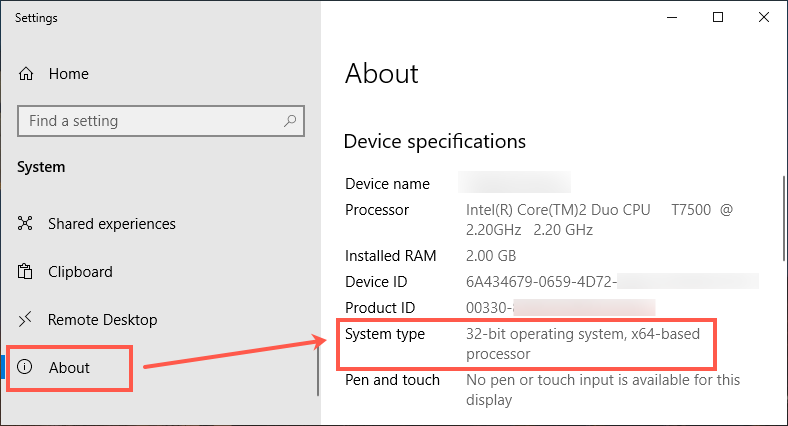 32 Bit Windows Operating System