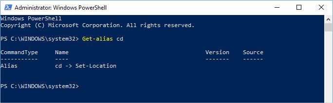 Alias in Windows PowerShell