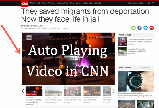 Autoplaying Video in CNN