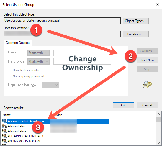 Change File Ownership to Your Account