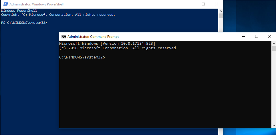 Command Prompt Vs Windows PowerShell
