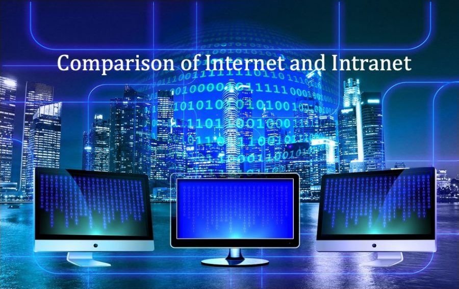 Comparison of Internet and Intranet