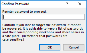 Confirm Sheet Password
