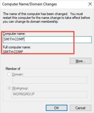 Edit Computer Name