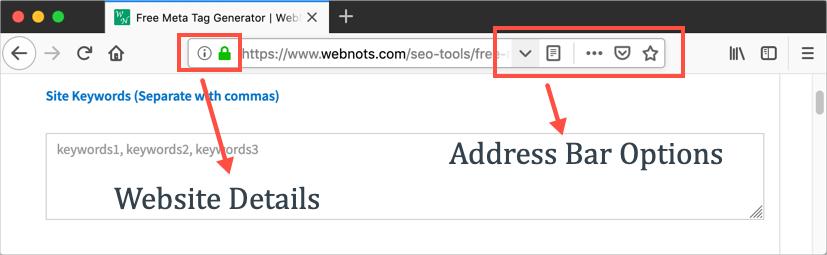 Firefox Address Bar Options