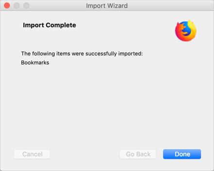 Firefox Import Wizard