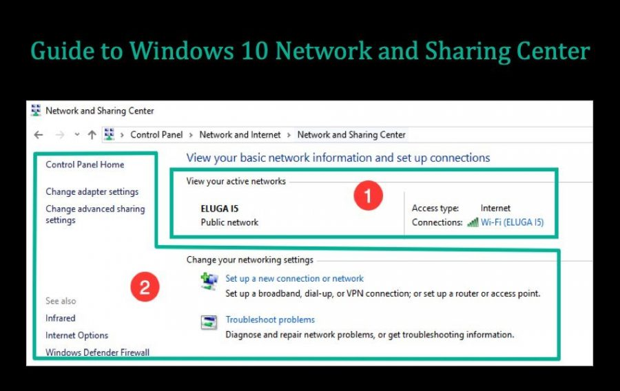 Guide to Windows 10 Network and Sharing Center