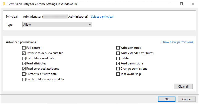 Setup Advanced Permissions