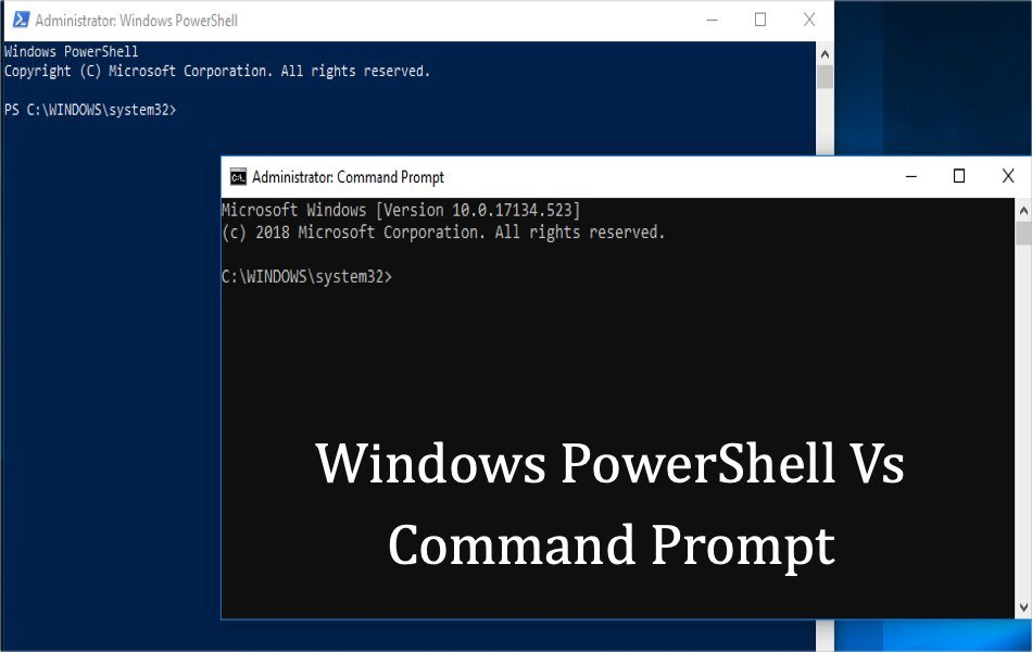 Windows PowerShell Vs Command Prompt