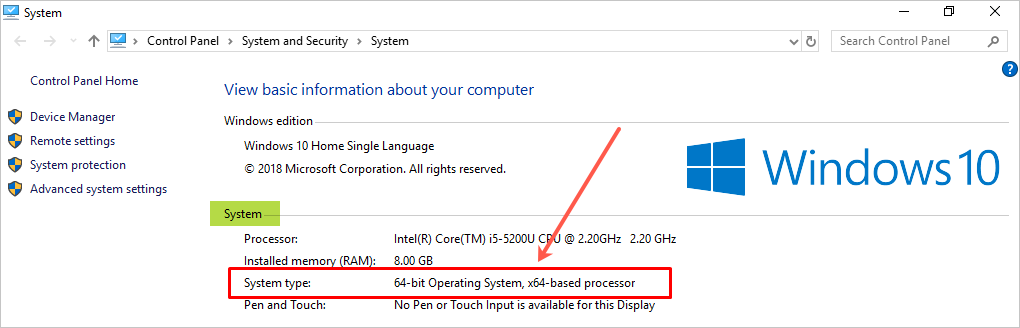 64 Bit Windows Operating System