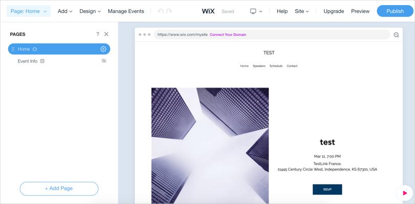 Wix ADI Editor View