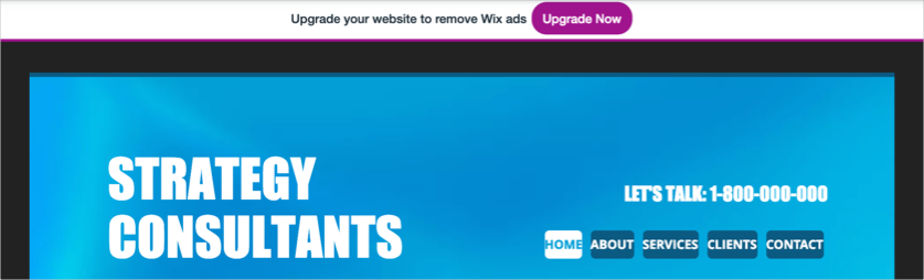 Wix Ads on the Site