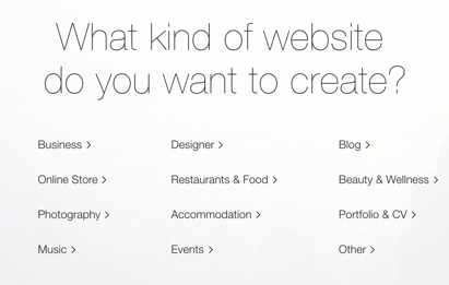 Wix Website Types