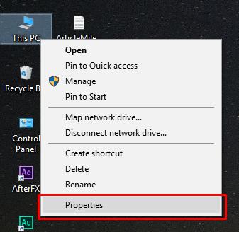 Windows System Properties
