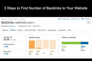 3 Ways to Find Number of Backlinks to Your Website
