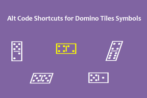 Alt Code Shortcuts for Domino Tiles