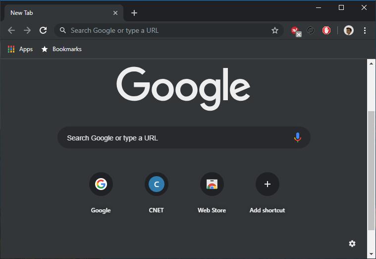 Chrome Dark Mode in Windows