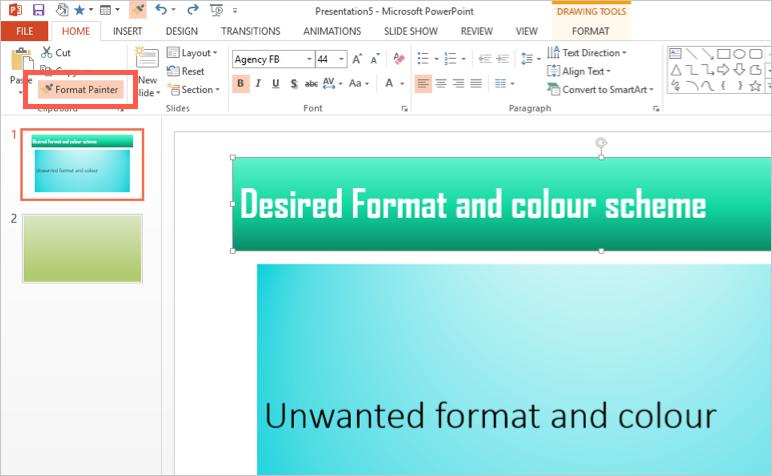 Copying Format