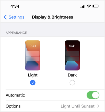 Enable Dark Mode in Chrome iPhone