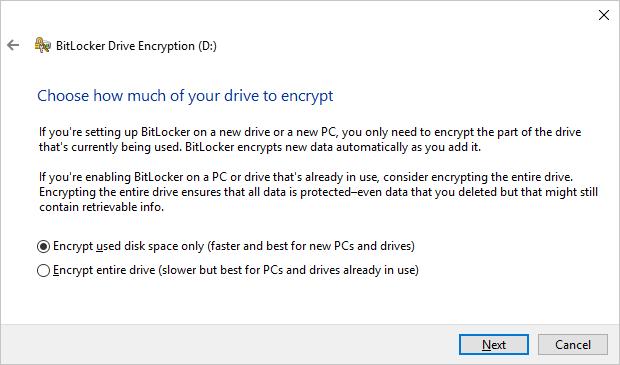 Encryption Space