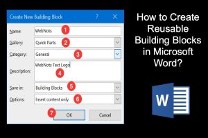 How to Create Reusable Building Blocks in Microsoft Word?