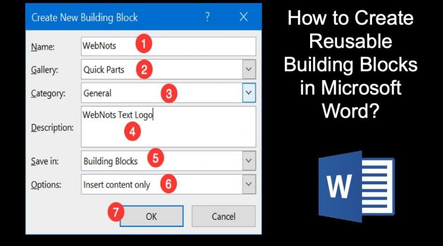 How to Create Reusable Content Blocks in Microsoft Word?