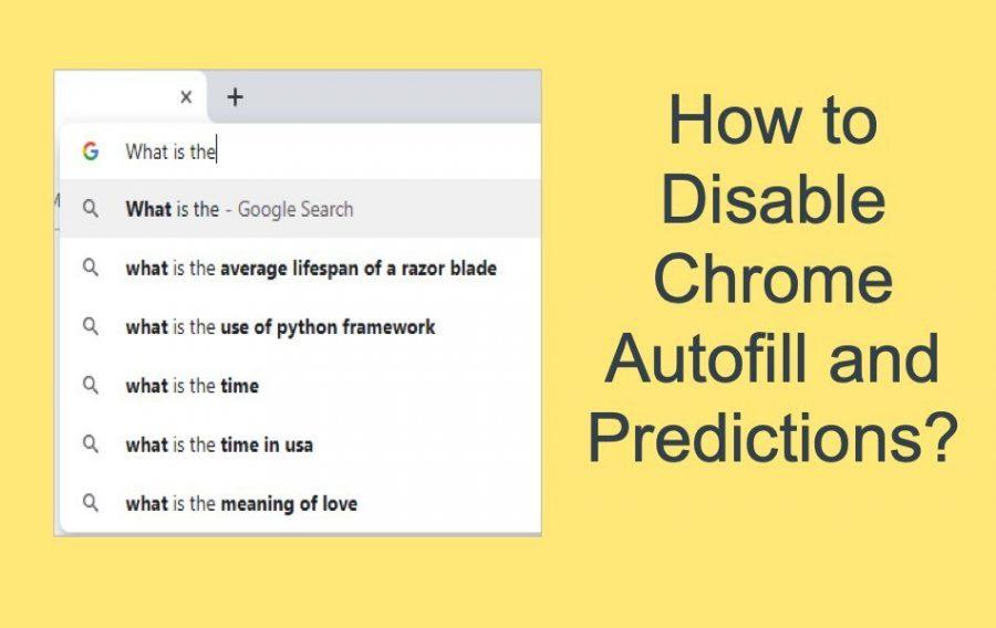 4 Ways to Disable Chrome Autofill and Predictions