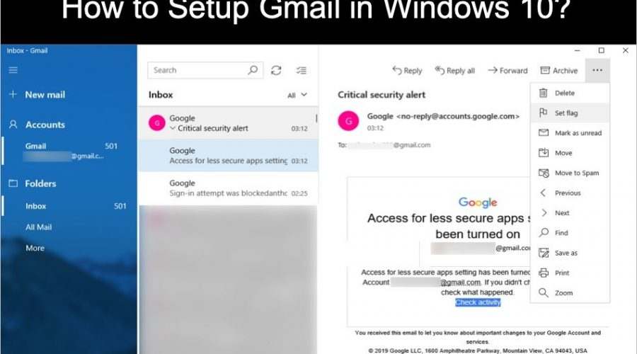 How to Setup Gmail in Windows 10?