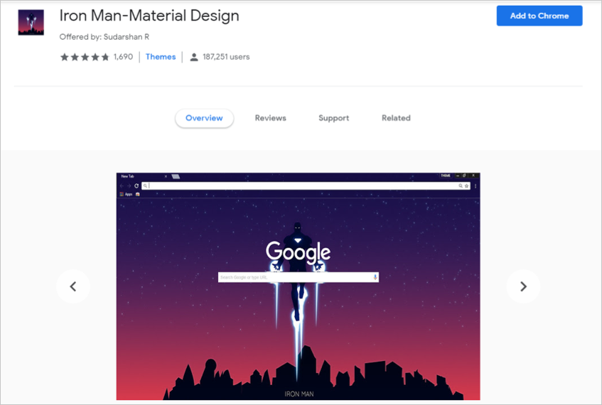 Iron Man-Material Design