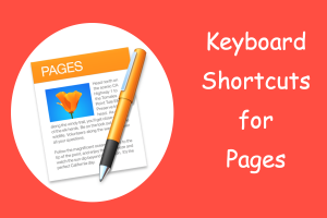 Keyboard Shortcuts for Pages