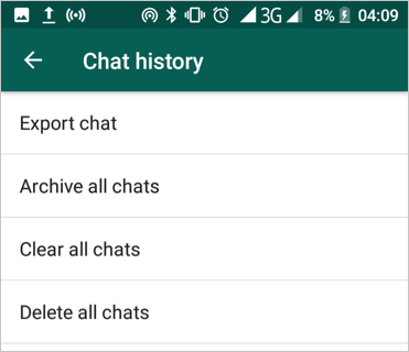 Manage Chat History