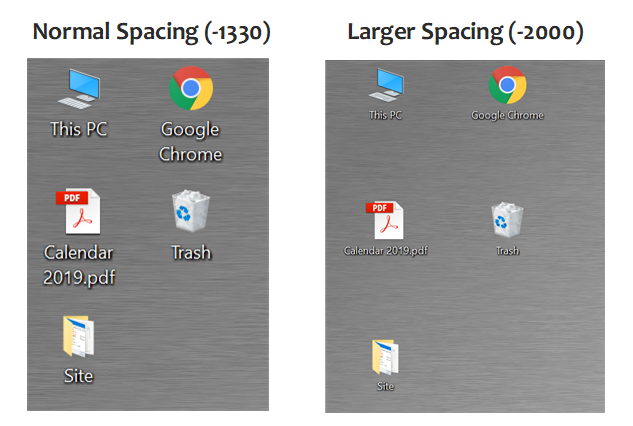 Normal Vs Larger Spacing