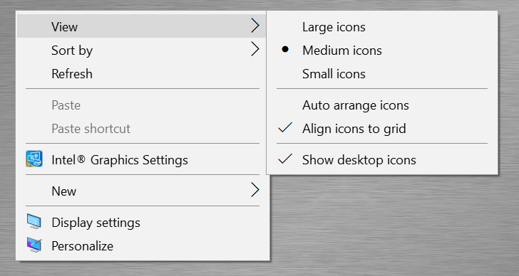 Right Click Context Menu on Desktop