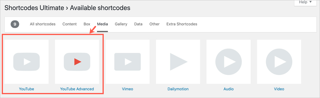 Shortcodes Ultimate YouTube Option
