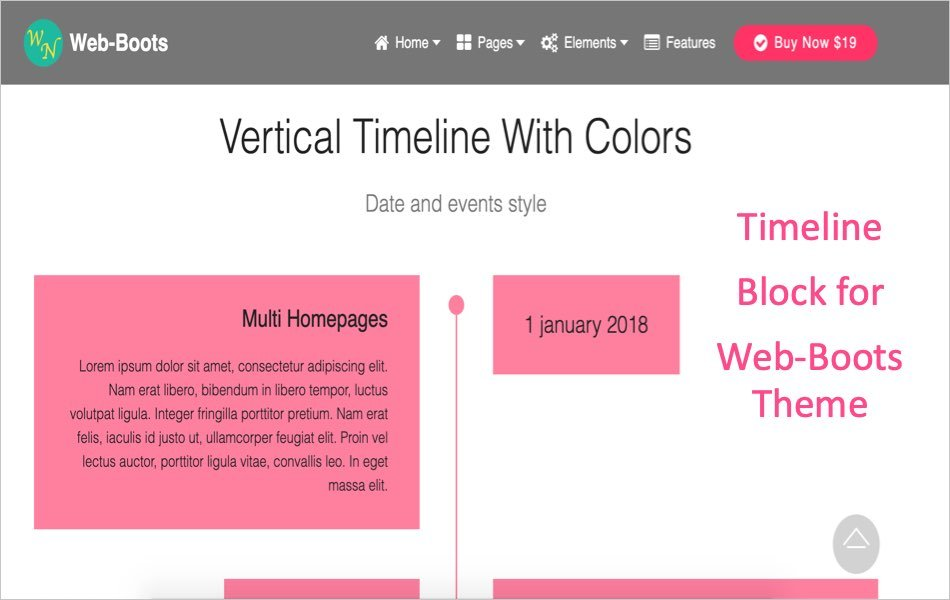 Timeline Block for Web-Boots Theme