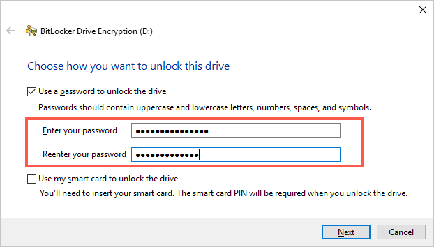 Unlock Option