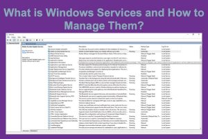 What is Windows Services and How to Manage Them?