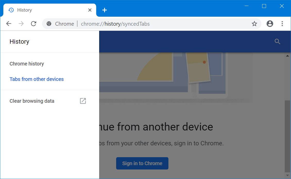 Access Tabs from Other Devices